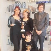 Tori, Kirsty & Sheri with Alex of Salon Concepts